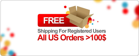 Free Shipping For Registered Users