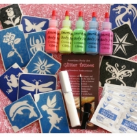 Amerikan Body Art UV Neon Glitter Tattoo Kits