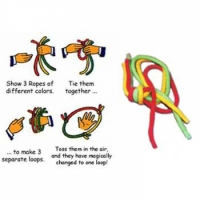 Multicolored Linking Ropes Magic Trick
