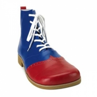 Wing Tip Red and Blue Leatherette Clown Shoes