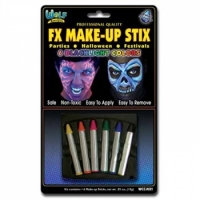 Wolfe Neon Face Paint Makeup Stix (6/box)