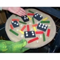 """Domino Pizza w/ Giant Dominos"" Gag"