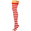 Adult Thigh High Ragdoll Socks - Red/White