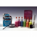 Amerikan Body Art Glitter Tattoo Deluxe Kits - UV/Blacklight (6 Colors)