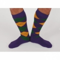 Argyle Socks - Purple/Gold/Green