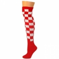 Checkered Knee Socks - Red/White