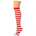 Child Thigh High Ragdoll Socks - Red/White
