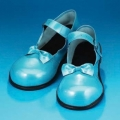 Pearl Blue Mary Jane Vinyl Clown Shoes