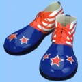 RWB Stars and Stripes Vinyl Clown Shoes