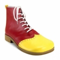 Wing Tip Red and Yellow Leatherette Clown Shoes