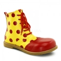 Yellow with Red Dots Leatherette Child Clown Shoes