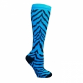 Zebra Socks - Turquoise with Black